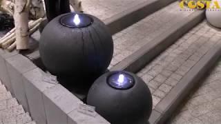 Video: Fontanna kula granitowa kremowa 40x36cm