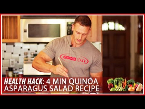 4 Minute Quinoa Asparagus Salad Recipe: Health Hack- Thomas DeLauer