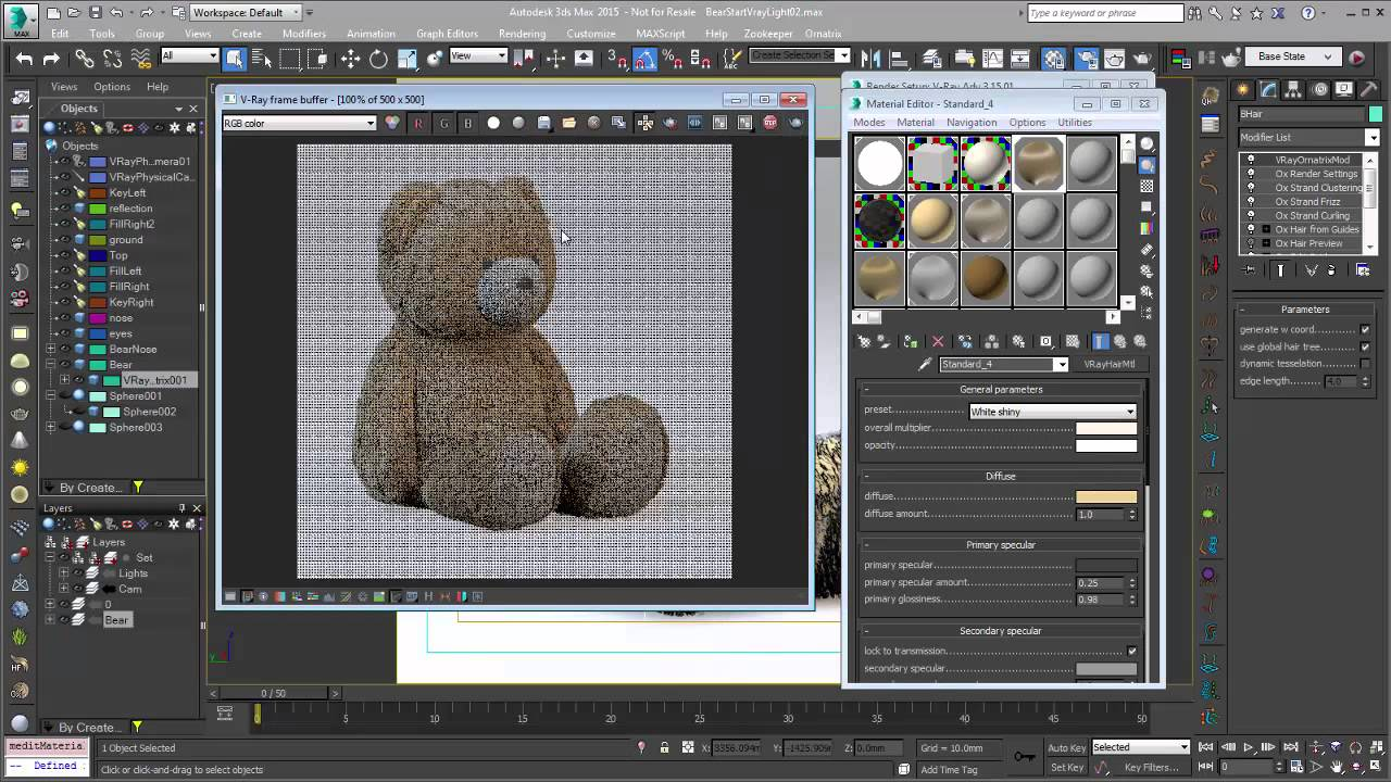 Ornatrix 101: Rendering hair with V-Ray and V-Ray RT by Ephere