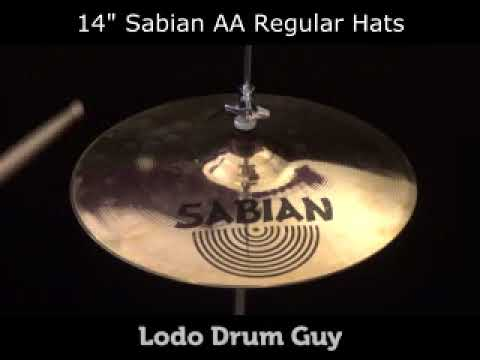 "14"" Sabian AA REGULAR HATS hihat set"