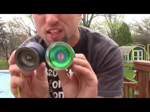 IOOEI 1250 green yo-yo unboxing and review.  Cheap ebay yoyo