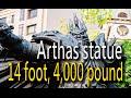 巫妖王阿薩斯雕像 高14 呎,重 4,000 磅 - 暴雪 25 週年 台灣台中