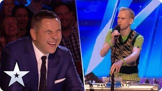 Unforgettable Audition: Robert White ROASTS our four Judges | Britain's Got Talent