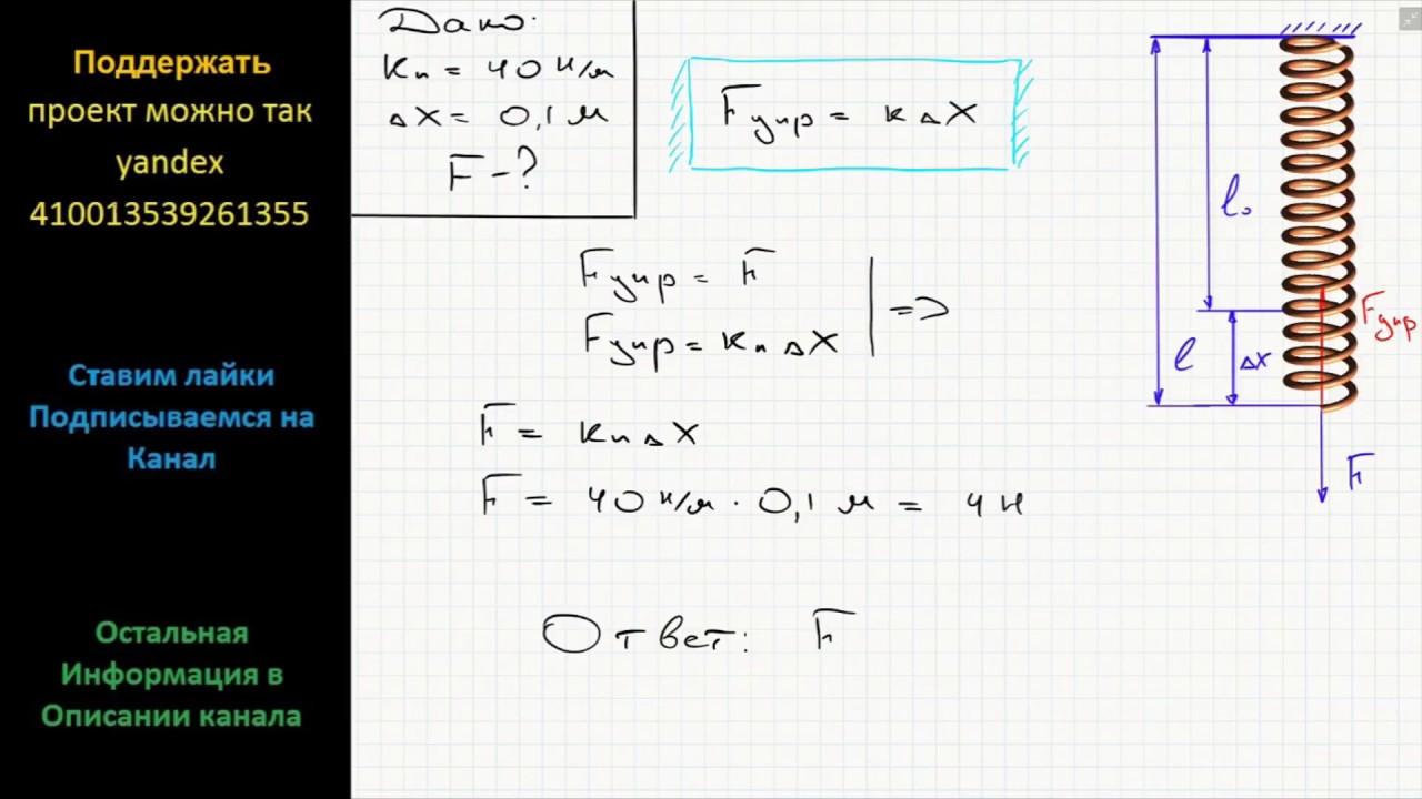 Решение задач по физике на жесткость задачи на решения уровнения 7 класс