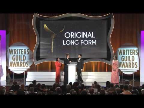 The 2016 Writers Guild Award for Original Long Form goes to Saints & Strangers