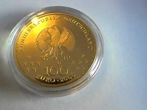 Deutsche Goldeuros 100 Euro Gold 1/2 oz Deutschland