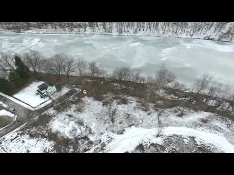 Aerial footage of the Youghiogheny river from Versailles Boro