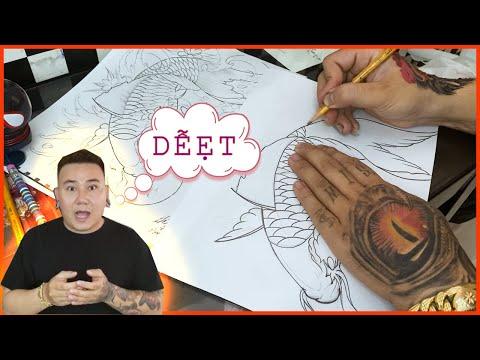 Vlog 42 : HƯỚNG DẪN VẼ HÌNH XĂM CÁ CHÉP - KOI FISH TATTOO P1 ( LINER) | SIN TATTOO