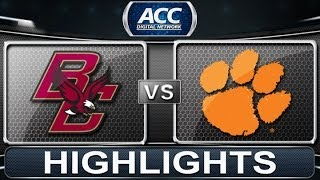 2013 ACC Football Highlights | Boston College vs Clemson | ACCDigitalNetwork