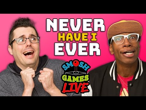 SNIPPERCLIPS & NEVER HAVE I EVER LIVE! (Smosh Games Live)