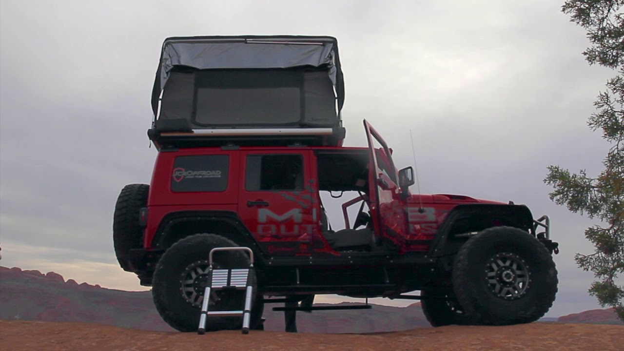 Gofsr Jeep Roof Top Tent Deploy Youtube