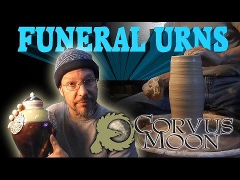 Corvus Moon Pottery #1 - Funeral Urns - pottery ceramic vase clay lessons