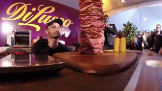 Di Lusso Deli Company builds the Worlds Tallest Sandwich