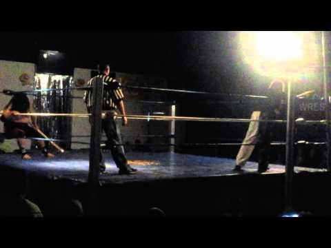 Fiji wildman vs purple haze in kendo stick and wet sign on pole match