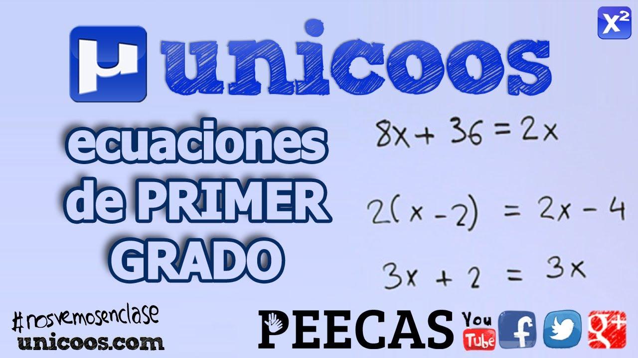 Ecuaciones de primer grado 01 SECUNDARIA (1ºESO) matematicas - YouTube