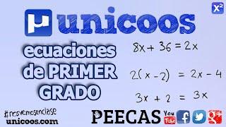 Ecuaciones de primer grado 01 SECUNDARIA (1ºESO) matematicas