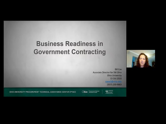Business Readiness in Government Contracting