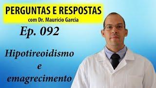 Hipotireoidismo e emagrecimento - Perguntas e Respostas com Dr Mauricio Garcia ep 092
