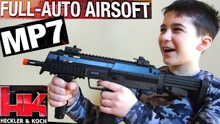 H&K MP7 Full Auto 6mm Airsoft Black Gun-Rifle with Robert-Andre!