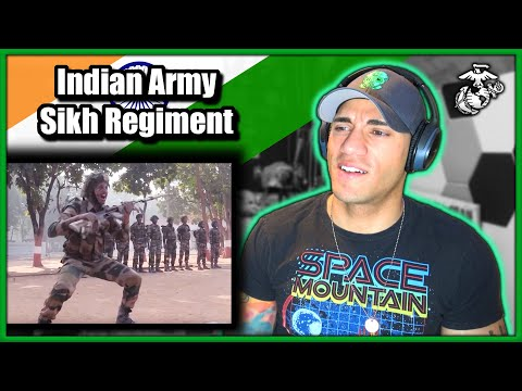 US Marine reacts to the Indian Army Sikh Regiment