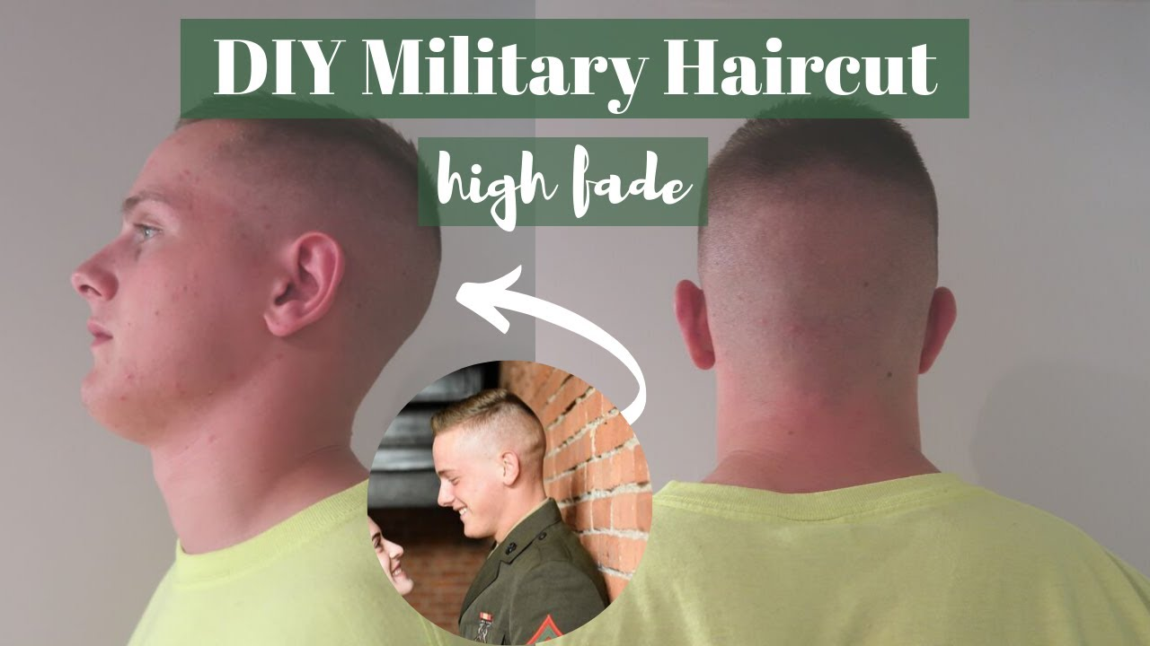 Step By Step Military Haircut At Home High Fade Haircut For Men Youtube