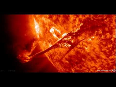 NASA images of a magnificent eruption seen by SDO (Solar Dynamics Observatory) - Video V AX