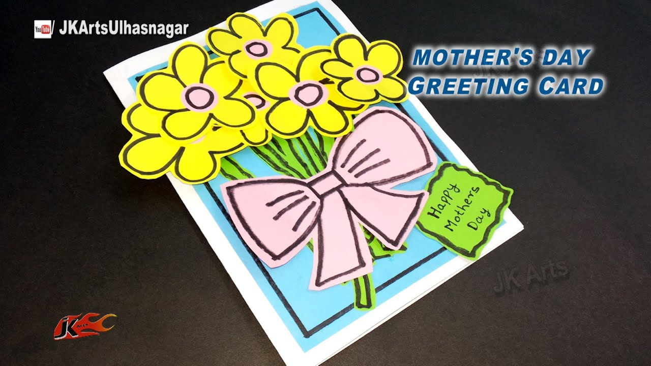 Art And Craft Ideas For Making Greeting Cards Part - 28: DIY Easy Greeting Card For Christmas / Motheru0027s Day / Teacheru0027s Day | JK  Arts 930 - YouTube