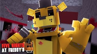 Minecraft: FIVE NIGHTS AT FREDDY'S #19 - GOLDEN FREDDY SERÁ QUE É REAL??