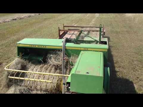 Square Baling Grass Hay