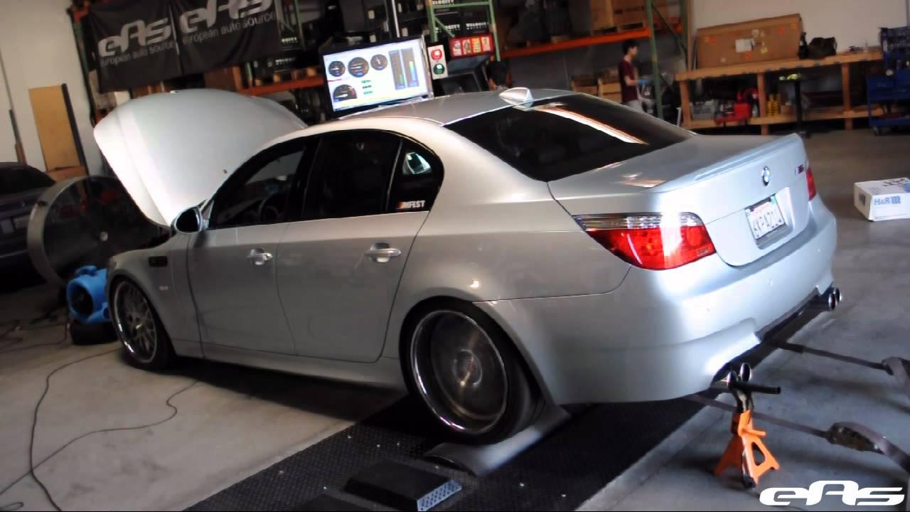 eas | 2010 bmw m5 eisenmann sport exhaust dyno - youtube