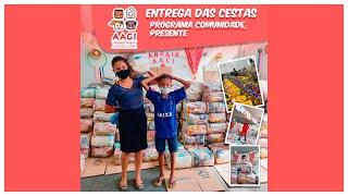 Entrega de cestas básicas, programa comunidade presente