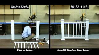 Azek Rail Installation Side-by-side Comparison