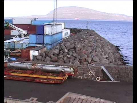Sailing out of Torshavn harbour, Faroe Islands