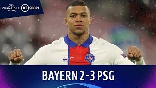 Bayern Munich v Paris Saint-Germain (2-3) | Mbappé Brace In Thriller! | Champions League Highlights