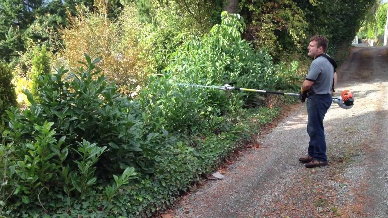 Stihl HL-KM hedge trimmer on a Kombi 130R