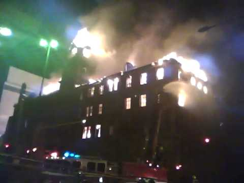 New video of fire at old Johannesburg Post Office