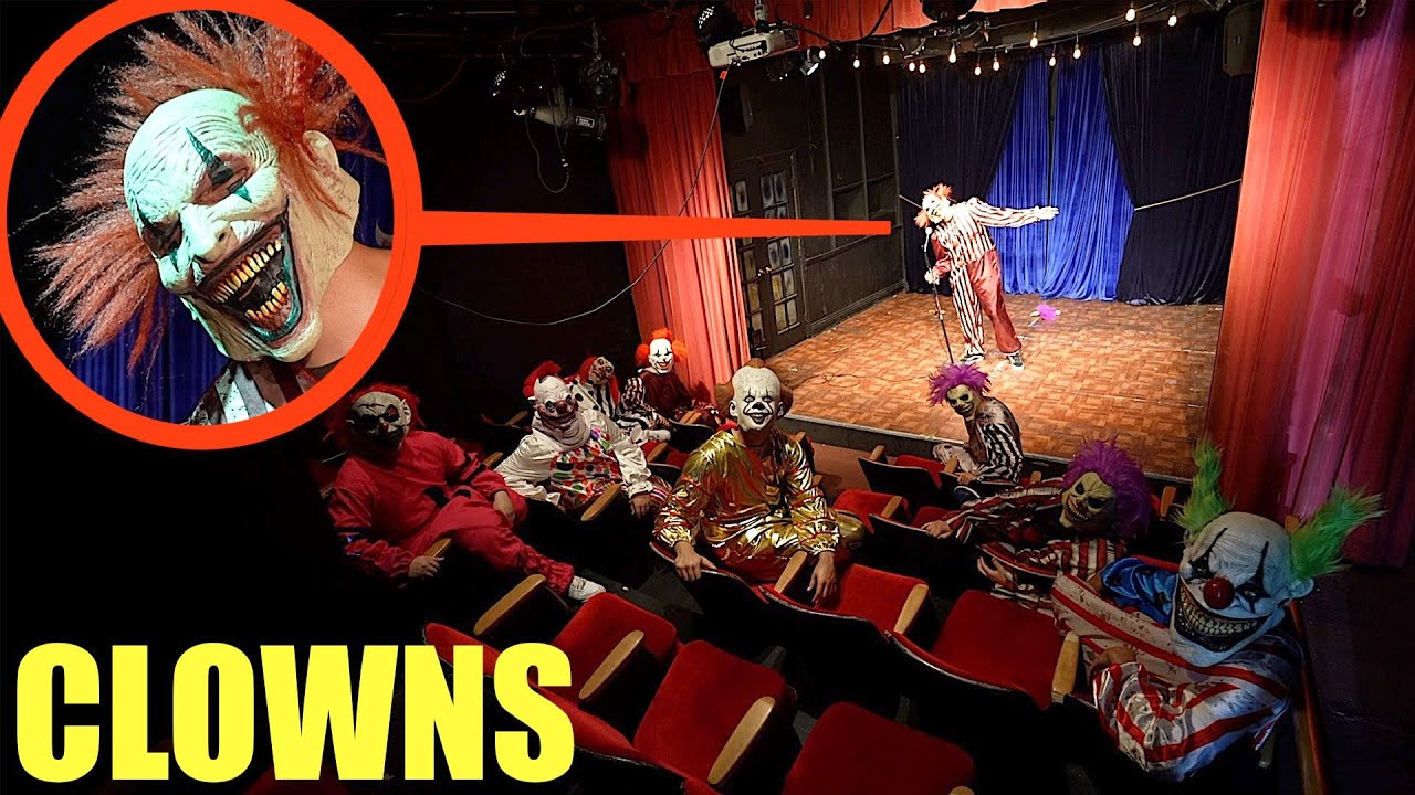 when you see clowns inside clown movie theater, DO not watch the show!! Get out as FAST as you can!!