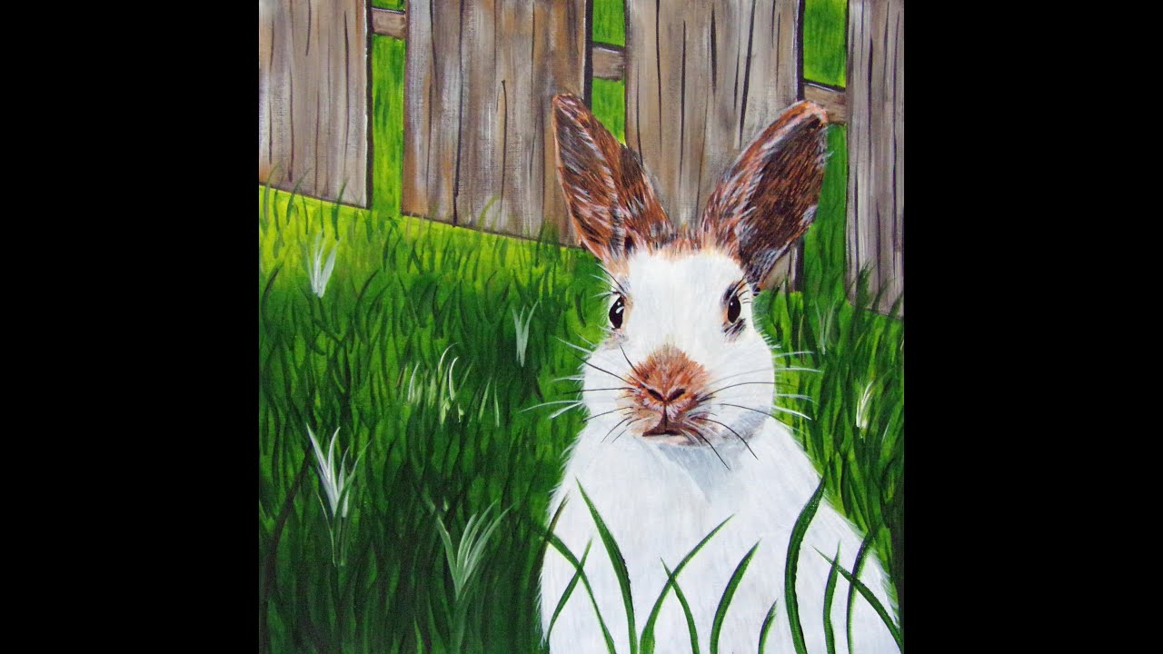 How To Paint A Cute Bunny Rabbit With Acrylic Paints Easter Bunny