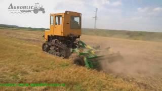 Дисковая борона ДАН-2.5 и трактор Т-70 (робота)