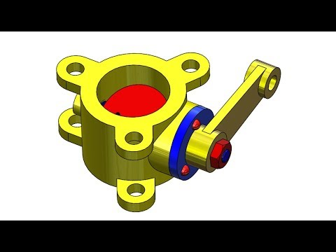 ⚡SOLIDWORKS TUTORIAL #16 || Design And Assembly Of Butterfly Valve Assembly In Solidworks.
