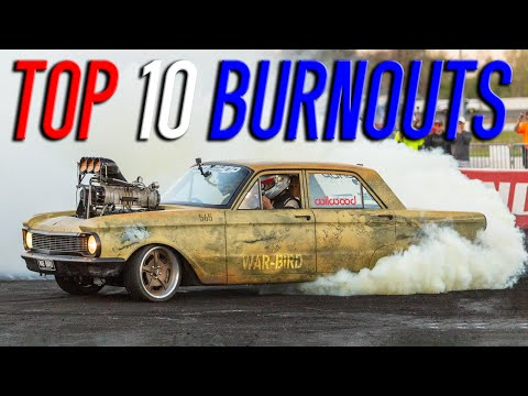 Top 10 BURNOUTS from Cleetus & Cars Indy (EPIC DRONE FOOTAGE)