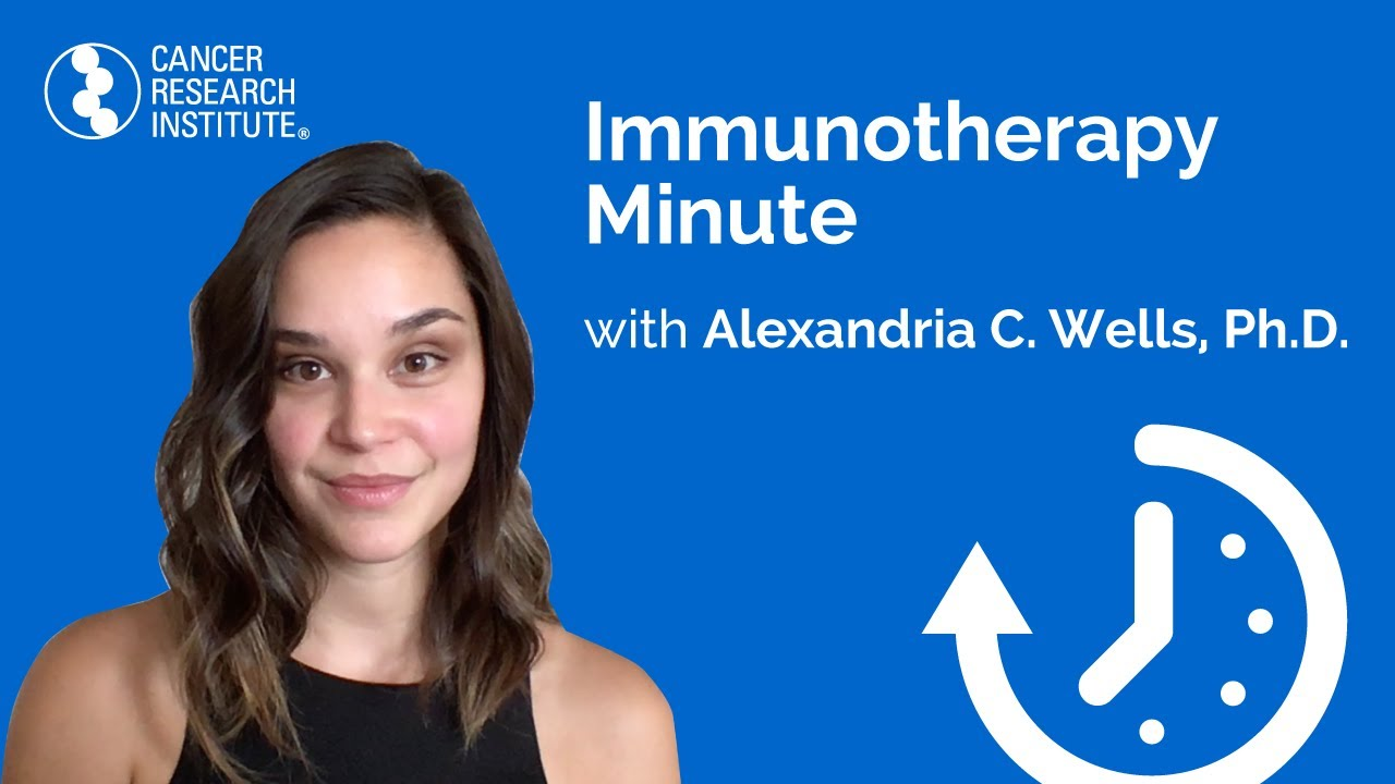 Immunotherapy Minute: Bacteria Influence with Dr. Alexandria C. Wells