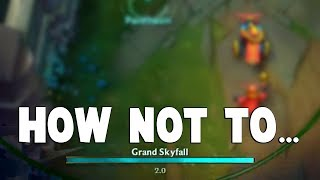 Here's An Example How YOU SHOULDN'T USE PANTHEON ULT... | Funny LoL Series #414