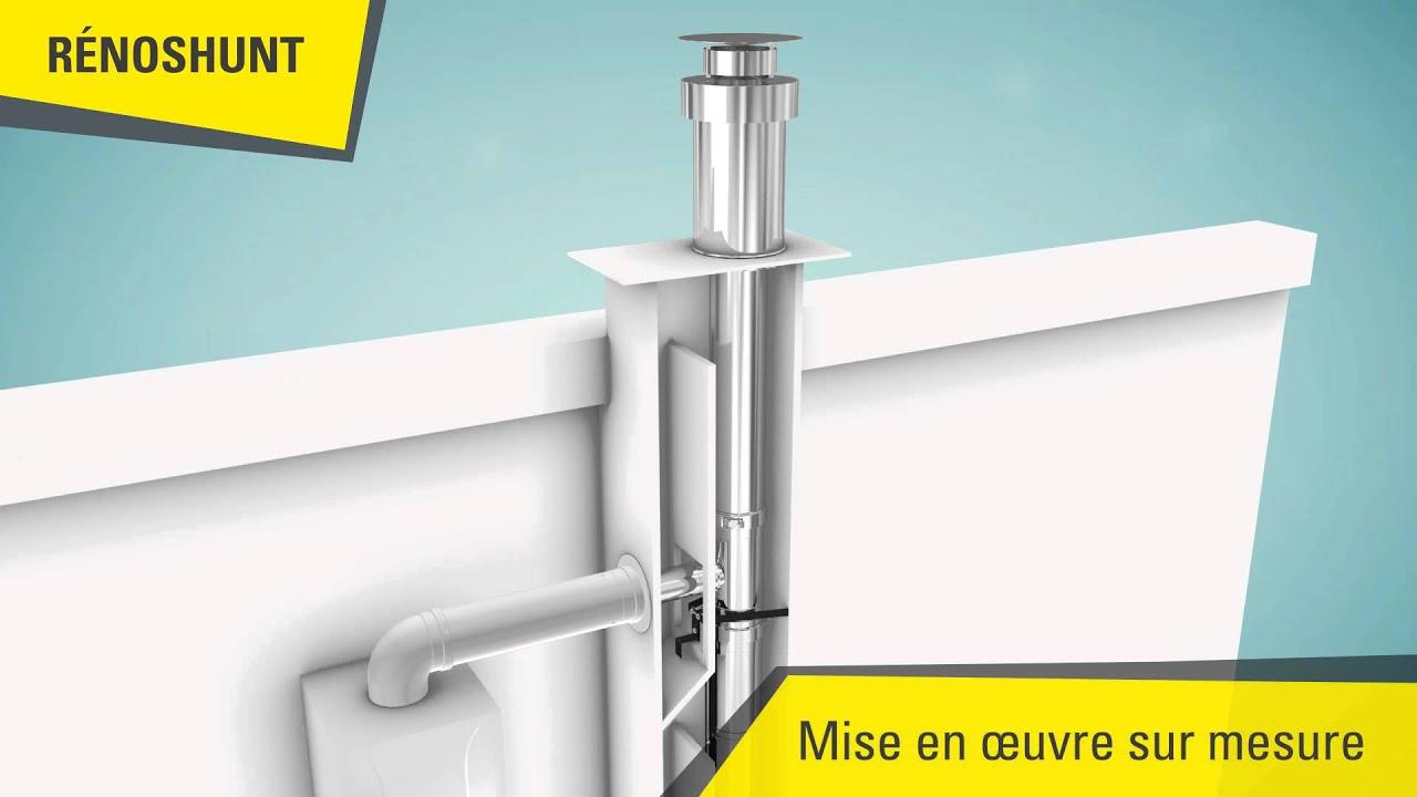 renoshunt installation de chaudi res condensation sur conduit shunt youtube. Black Bedroom Furniture Sets. Home Design Ideas