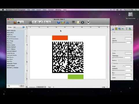 Business card composer adding and reading a barcode youtube business card composer adding and reading a barcode colourmoves