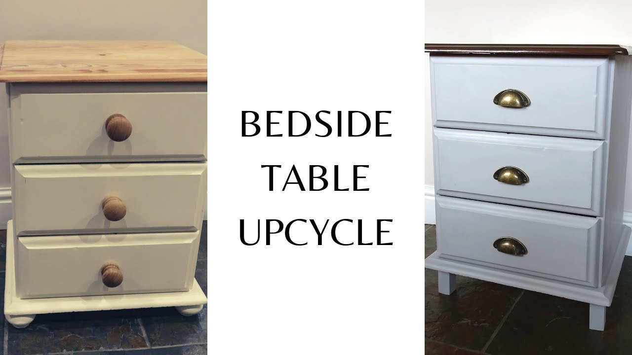 Bedside Table Chalk Paint Makeover Aldi Chalk Paint Makeover Before And After Youtube