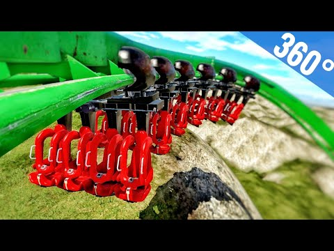 360° POV Free Fall Tunnel RollerCoaster Simulator Google Cardboard [3D VR] SBS Video split screen