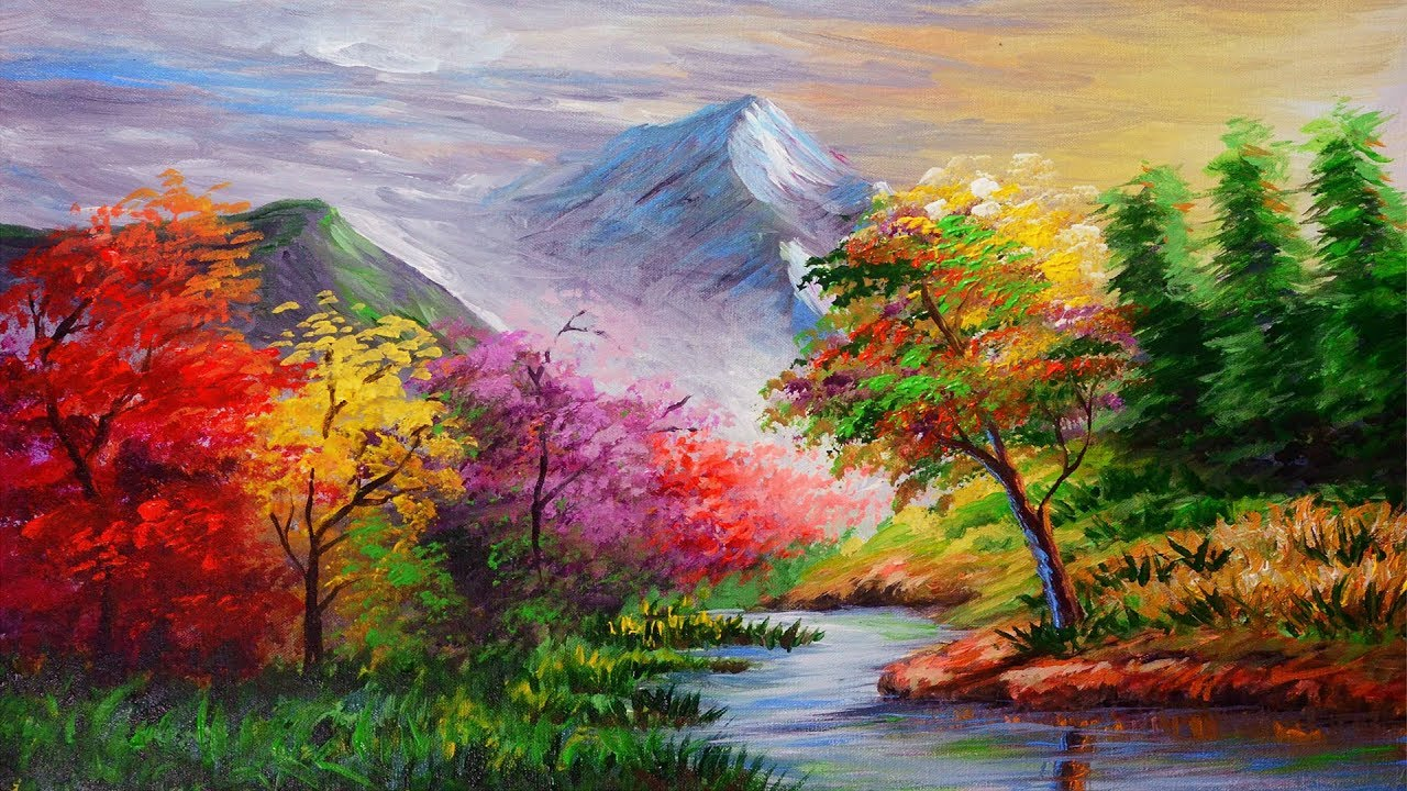 How To Paint Trees In Water Coulor