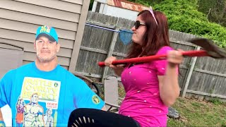 YOUTUBER DESTROYS CENA MERCH OVER NIKKI BELLA BREAK-UP - CENA DATING CARMELLA!