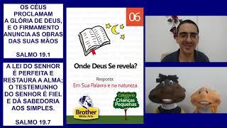 Catecismo para Crianças Pequenas - Pergunta 06